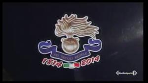 L'adesivo commemorativo dei 200 anni dell'Arma dei carabinieri