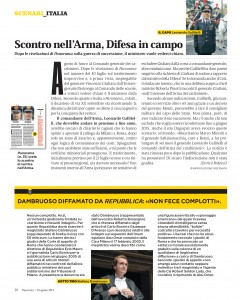 L'articolo pubblicato dal settimanale Panorama
