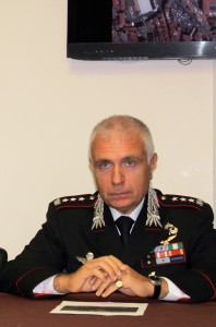 Il colonnello Luciano Zarbano, Comandante Provinciale Carabinieri Imperia
