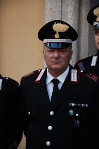 Il Luogotenente Antonio Piras, Comandante della Stazione Carabinieri di Sanremo