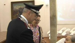 Il colonnello Canio Giuseppe La Gala incontra la 97 truffata