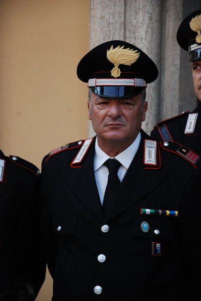 Il luogotenente Antonio Piras (foto Sanremonews)